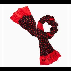 ♠️♠️Kate Spade heartbeat❤️oblong scarf 🧣♠️♠️